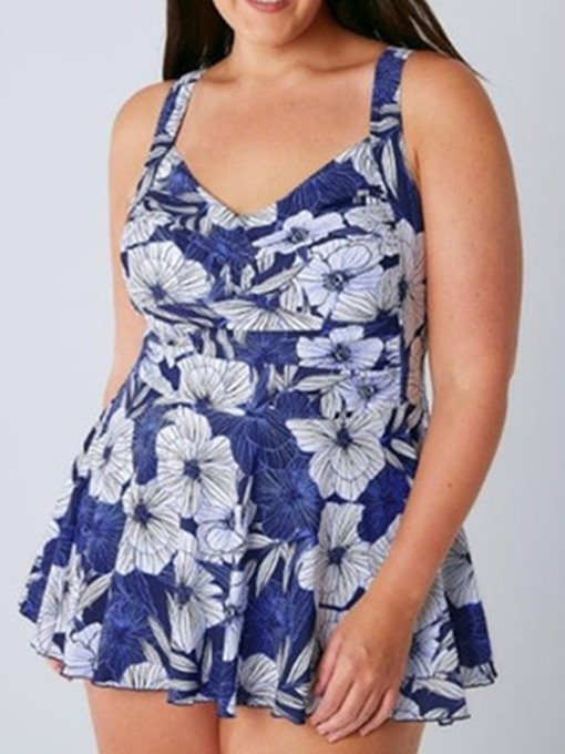 Ericdress Plus Size Print One Piece Stretchy Sexy Swimwear
