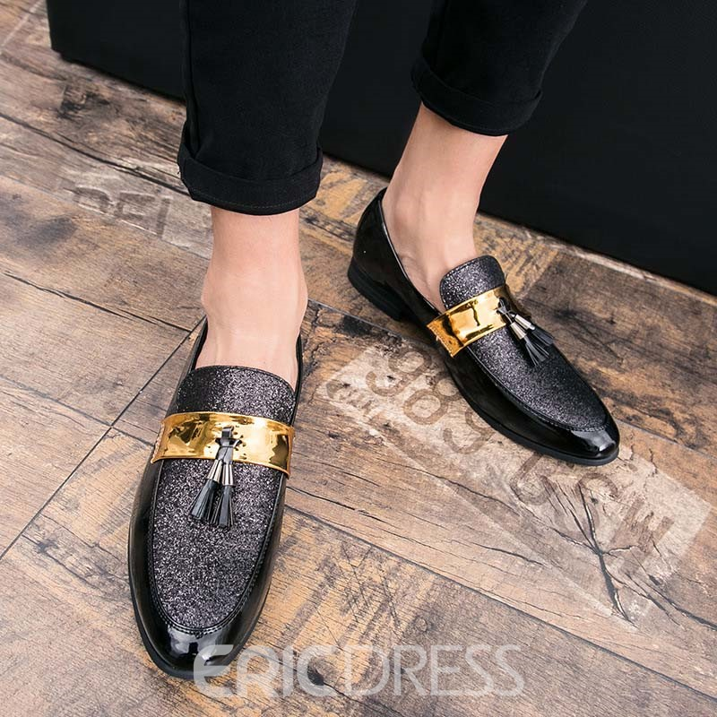 Ericdress Low-Cut Upper Slip-On Color Block Pointed Toe Thin Shoes