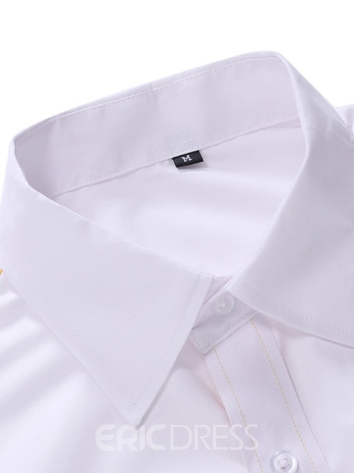 Ericdress Casual Lapel Button Single-Breasted Men's Slim Shirt