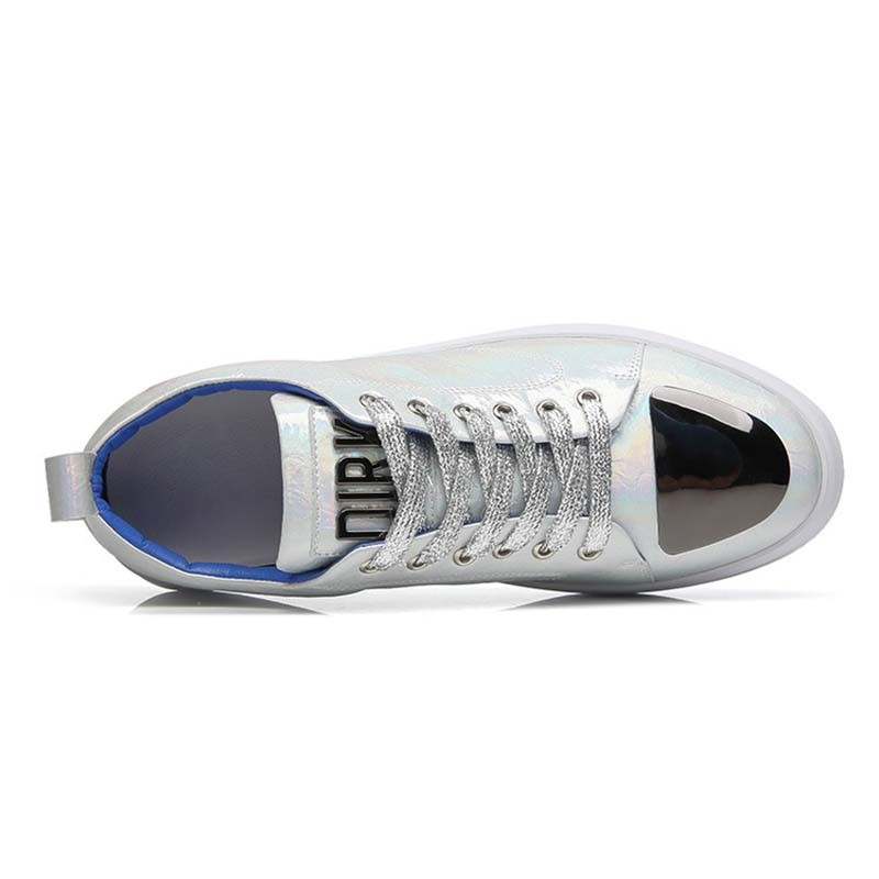 Ericdress PU Color Block Lace-Up Men's Skate Shoes