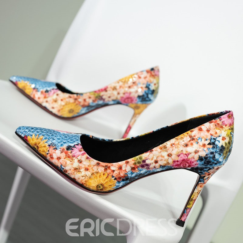Ericdress Print Pointed Toe Stiletto Heel Women's Prom Shoes