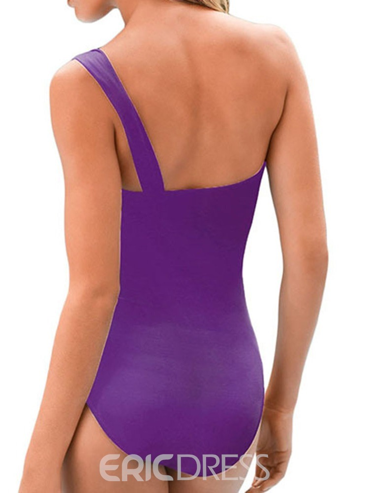 Ericdress Pleated Hollow Stretchy Sexy Swimwear