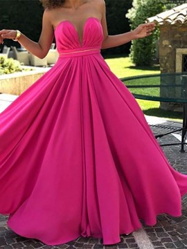 Ericdress V-Neck Sleeveless A-Line Floor-Length Prom Dress 2019