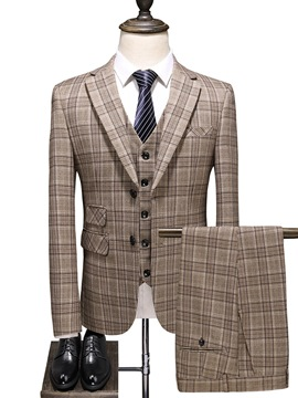 Ericdress Fashion Single-Breasted Men's Dress Suit