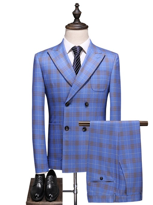 Ericdress Color Block Pocket Men's Dress Suit