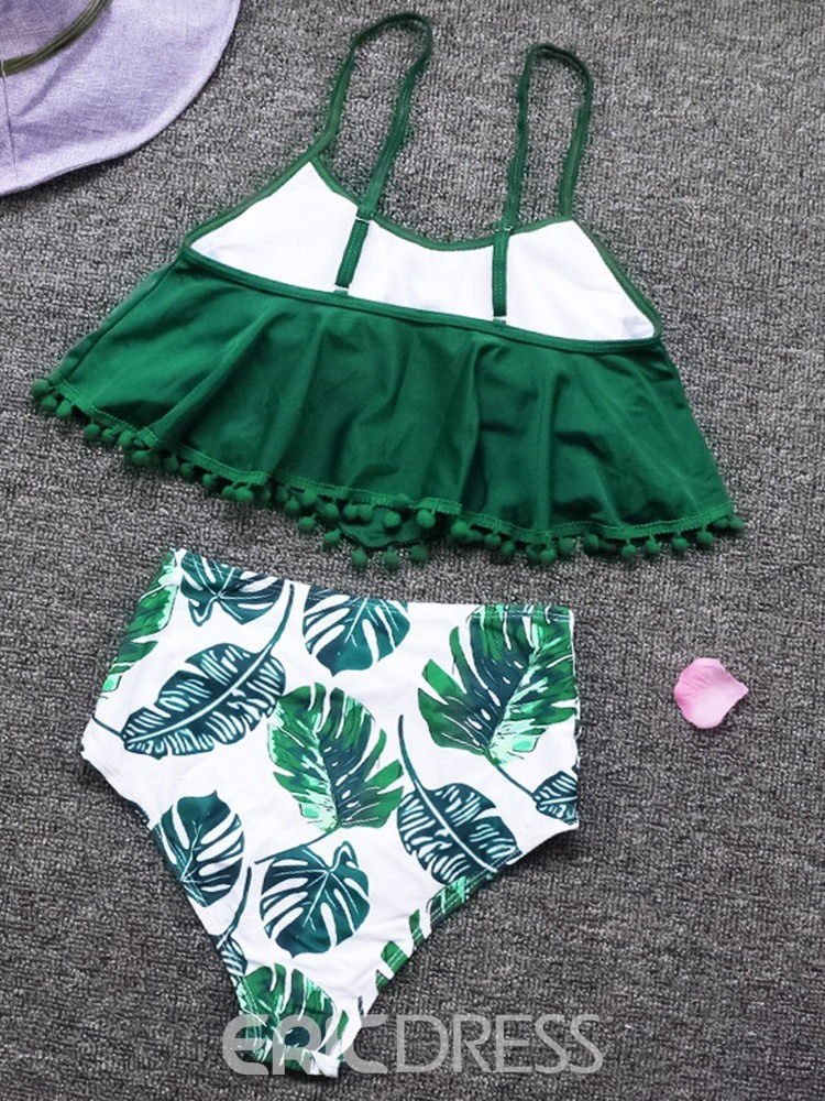 Ericdress Print Tassel Stretchy Swimsuit