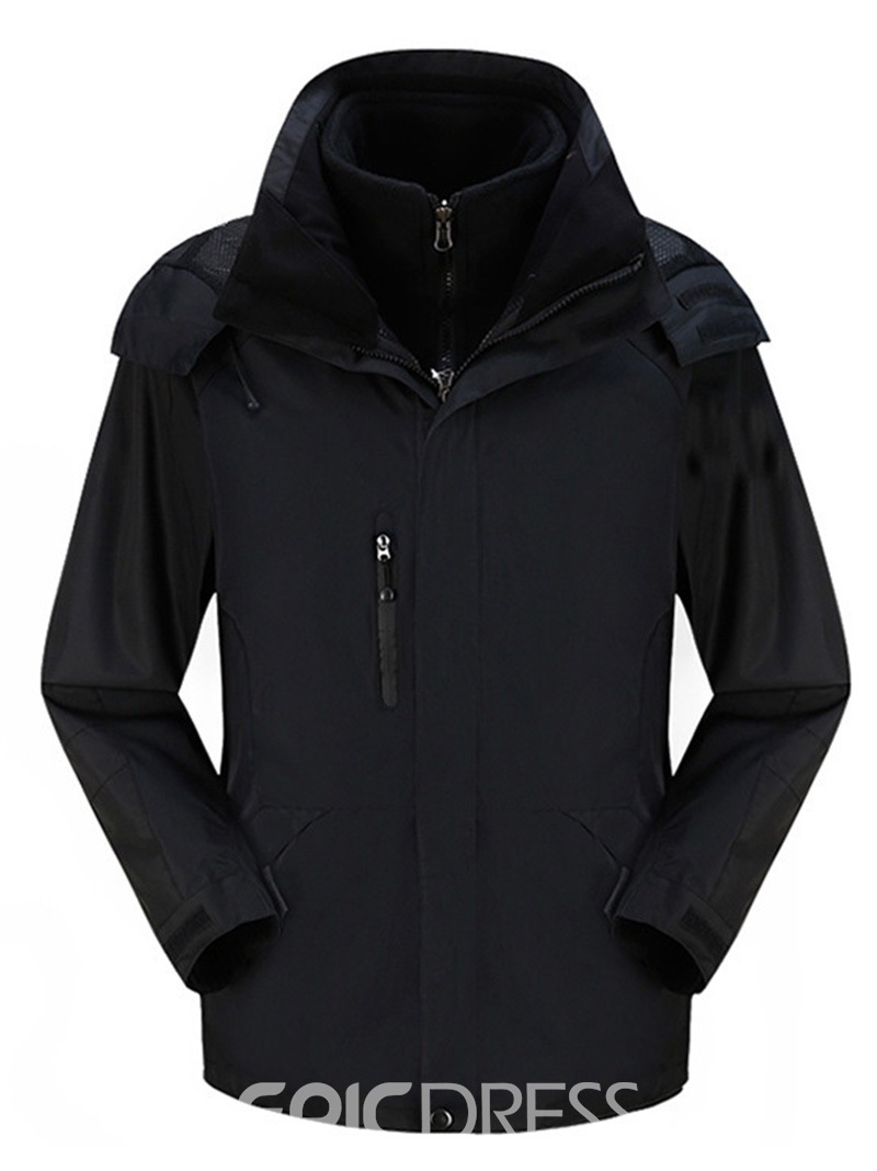 Ericdress Three-In-One Windproof Warm Detachable Men's Jacket