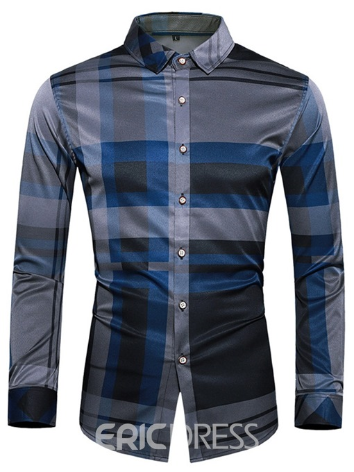 Ericdress Print OL Lapel Men's Single-Breasted Shirt
