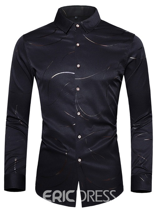 Ericdress Button OL Lapel Men's Single-Breasted Shirt