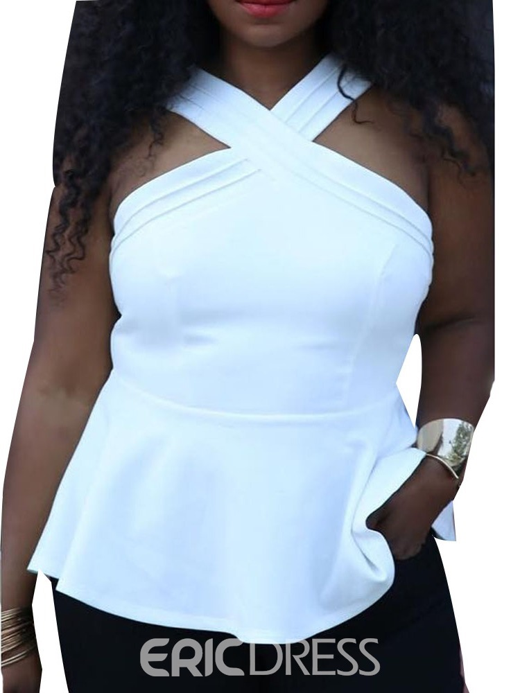 Ericdress Plus Size Polyester Women's Standard Tank Top