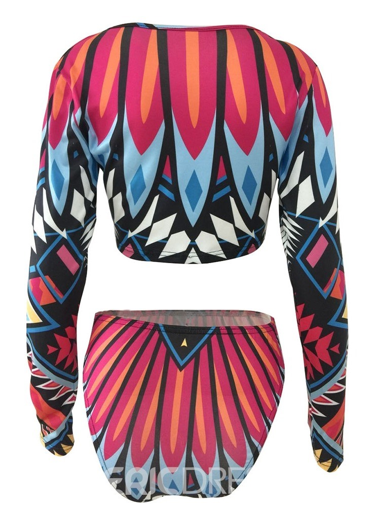 Ericdress Color Block Print Stretchy Skimpy Sexy Swimsuit
