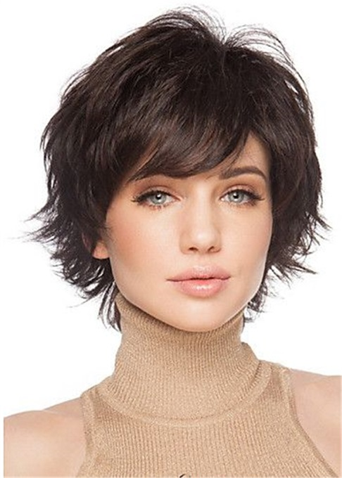 Ericdress Cute Short Hairstyle Human Natural Straight Women Wig 10 Inches
