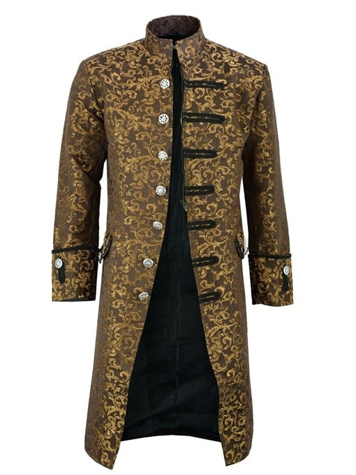 Ericdress Long Color Block Yarn Dyed Single Men's Trench Coat