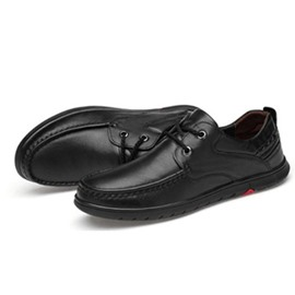 Ericdress Plain Lace-Up Round Toe Men's Comfortable Shoes