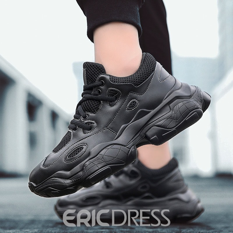 Ericdress Patchwork Low-Cut Upper Lace-Up Men's Running Shoes