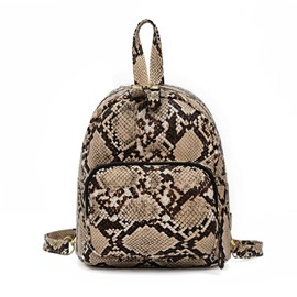 Ericdress Serpentine Embossing Backpack