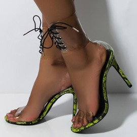 Ericdress Serpentine Lace-Up Stiletto Heel Women's Sandals