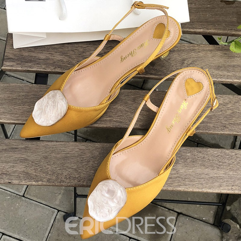 Ericdress Buckle Pointed Toe Slingback Strap Women's Sandals