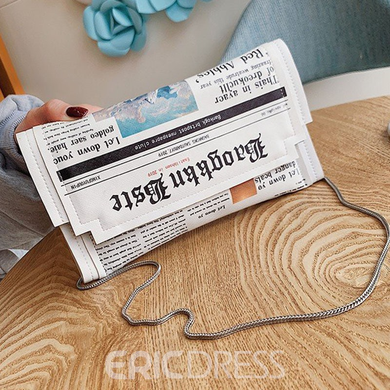 Ericdress Print Letter Cute Crossbody Bag
