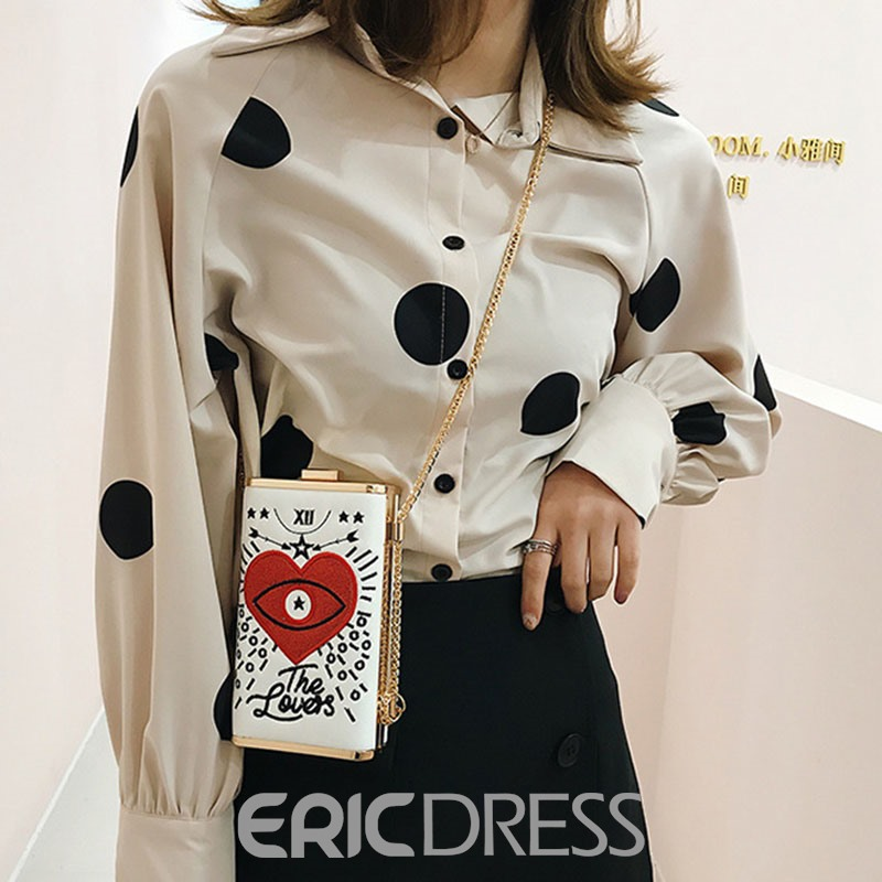 Ericdress Heart Shaped Rectangle Crossbody Bag