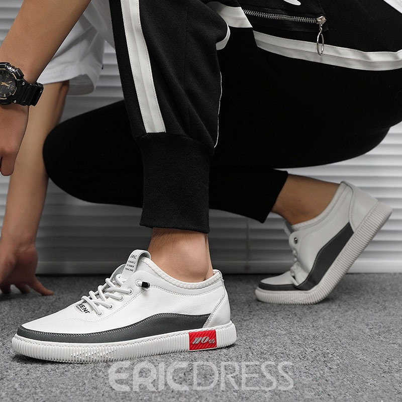 Ericdress PU Slip-On Round Toe Men's Skate Shoes