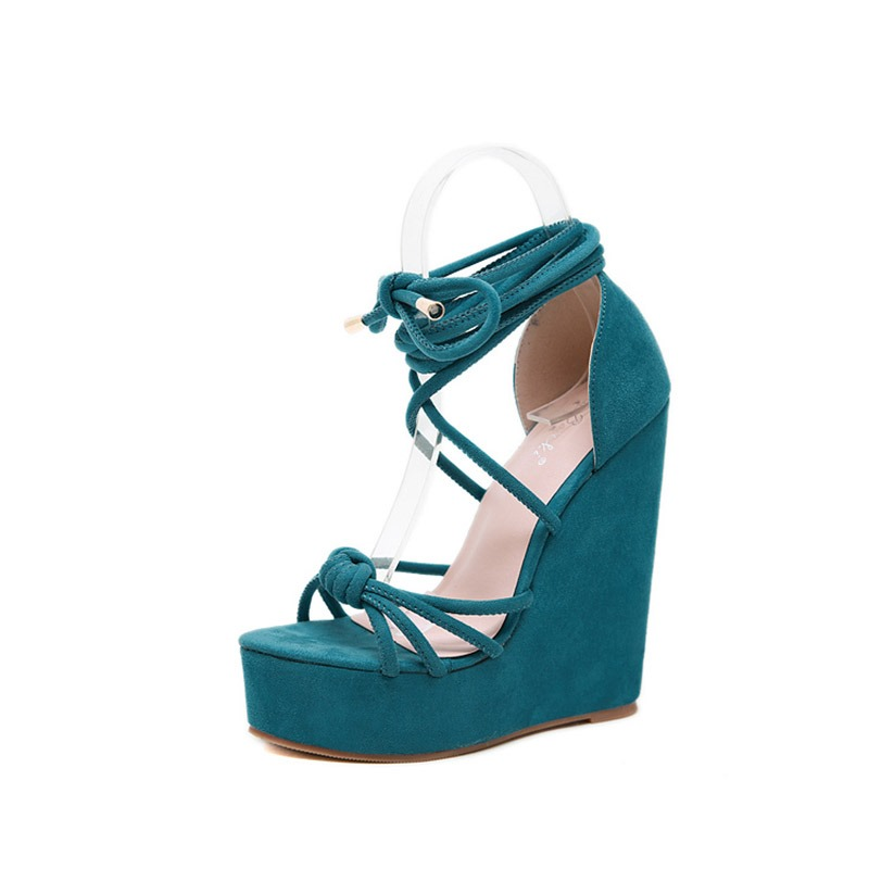 Ericdress Faux Suede Lace-Up Open Toe Heel Covering Women's Sandals