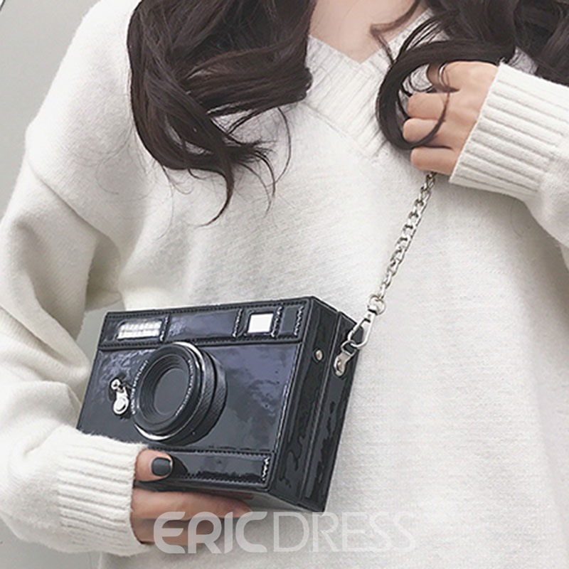 Ericdress PU Thread Flap Crossbody Bag