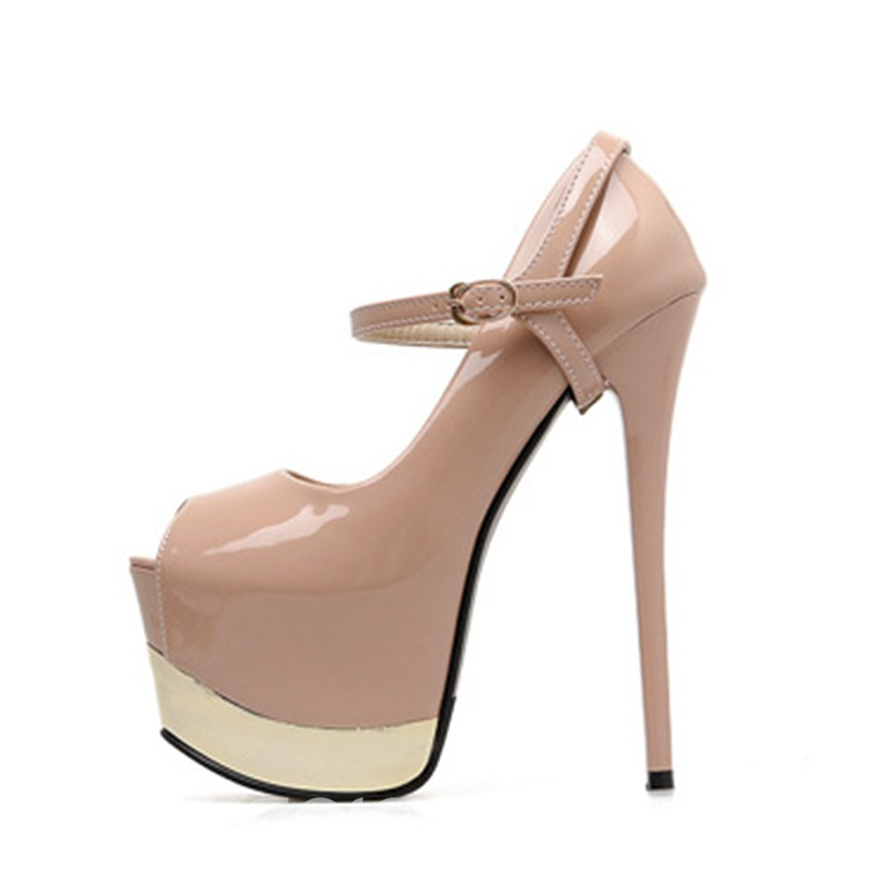 Ericdress PU Buckle Platform Stiletto Heel Women's Prom Shoes