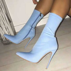 Ericdress Plain Zipper Stiletto Heel Women's Ankle Boots