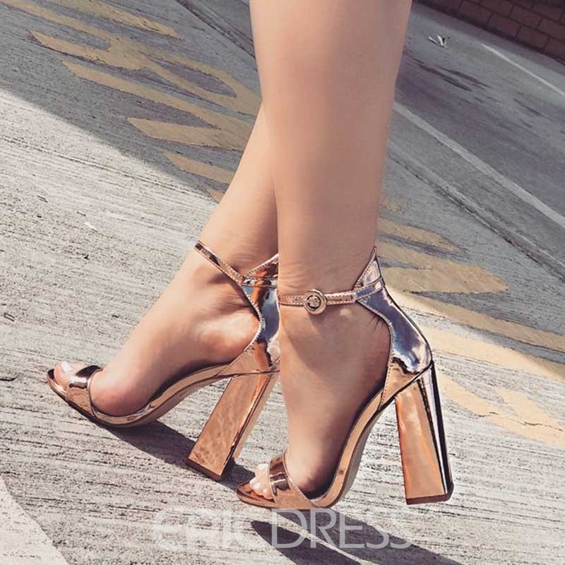 Ericdress Chunky Heel Open Toe Women's Sandals