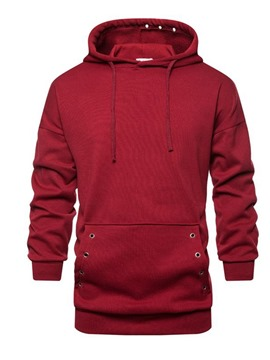 Ericdress Pocket Plain Men's Pullover Hoodies
