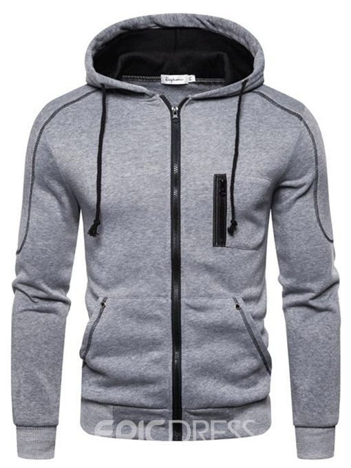 Ericdress Thick Pocket Cardigan Men's Hoodies