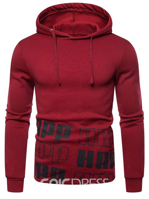 Ericdress Print Pullover Thick Men's Standard Hoodies