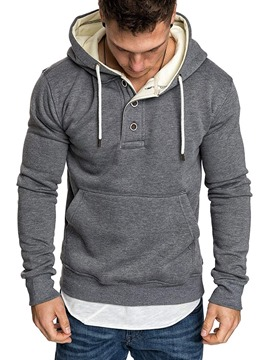 Ericdress Fleece Plain Pullover Men's Casual Hoodies
