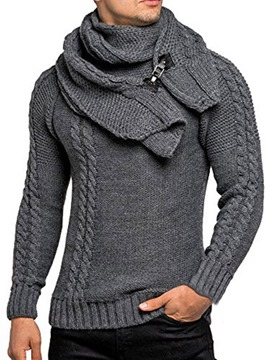 Ericdress Plain Standard Plain Slim Casual Men's Sweater