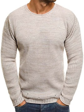 Ericdress Plain Round Neck Standard Men's Casual Sweater