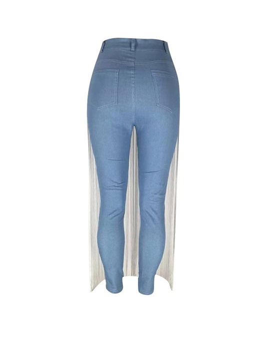 Ericdress Plain Washable Skinny High Waist Jeans