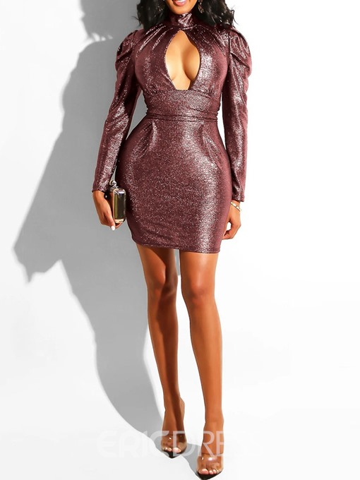 Ericdress Sexy Party Above Knee Mid Waist Regular Bodycon Dress