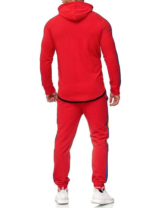 Ericdress Color Block Zipper Men's Casual Outfit
