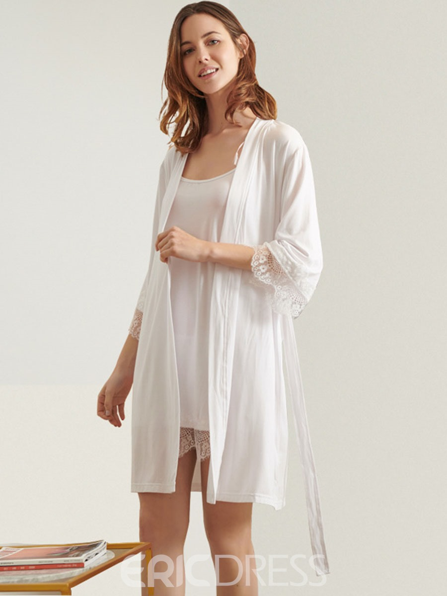 Ericdress Simple Plain Three-Quarter Sleeve Pajama Suit