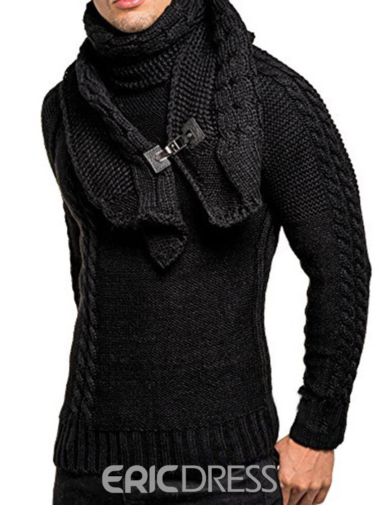Ericdress Standard Plain Slim Men's Casual Sweater