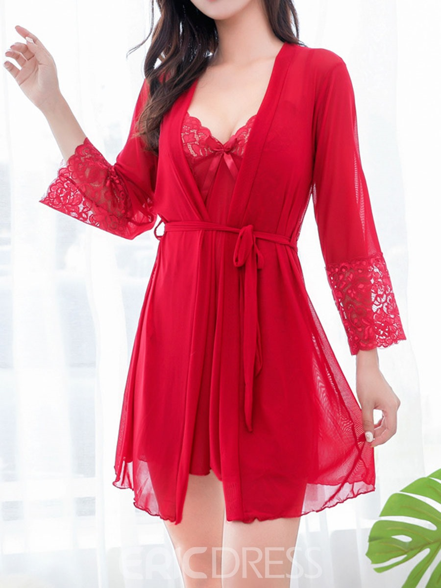 Ericdress Plain Sexy Nylon Nightgown