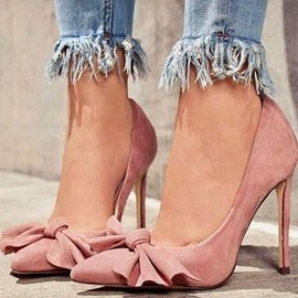 Ericdress Bowknot Slip-On Pointed Toe Women's Prom Shoes