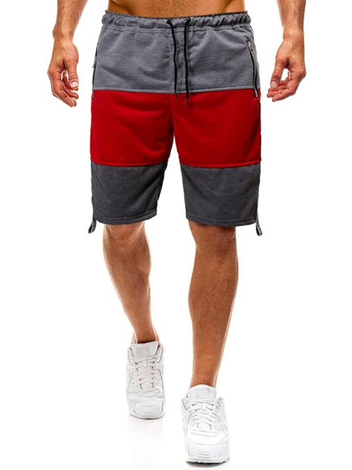 Ericdress Zipper Color Block Loose Fashion Men's Lace-Up Shorts