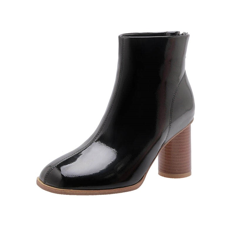 Ericdress Plain Round Toe Back Zip Women's Ankle Boots