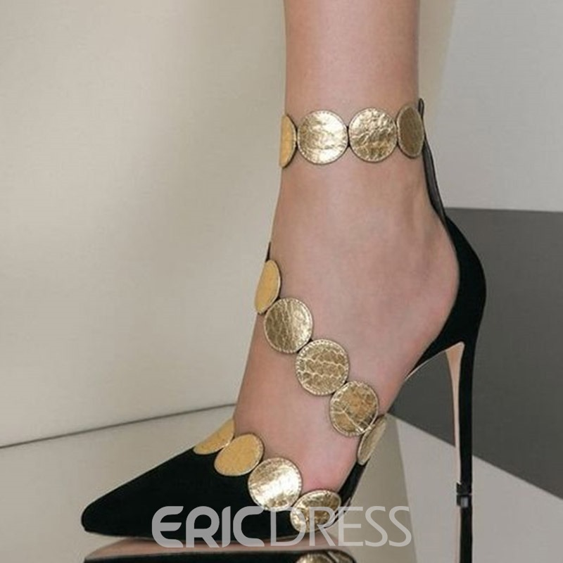Ericdress Pointed Toe Zipper Sexy Women's Prom Shoes