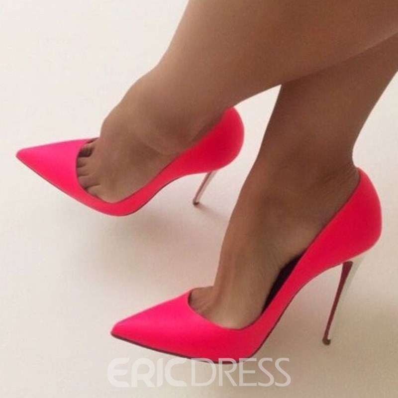 Ericdress Slip-On Stiletto Heel Pointed Toe Women's Prom Shoes