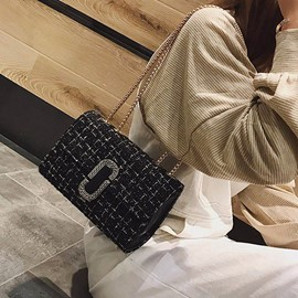 Ericdress Chain Woolen Cloth Crossbody Bag
