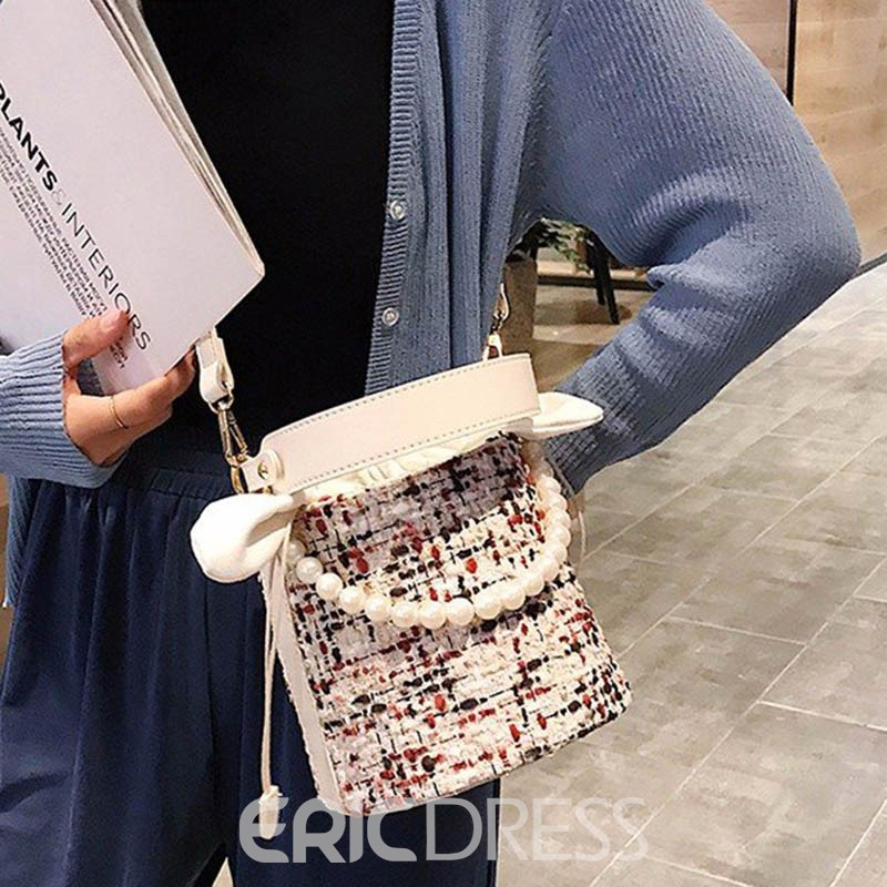 Ericdress Color Block Barrel-Shaped Tote Bag For Women