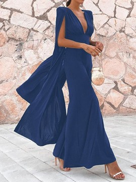 Ericdress V-Neck Plain Ankle-Length Fashion Party Dress